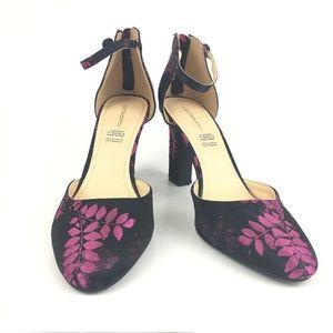 Liz Claiborne Winnie Floral Brocade Heels   Sz 9.5
